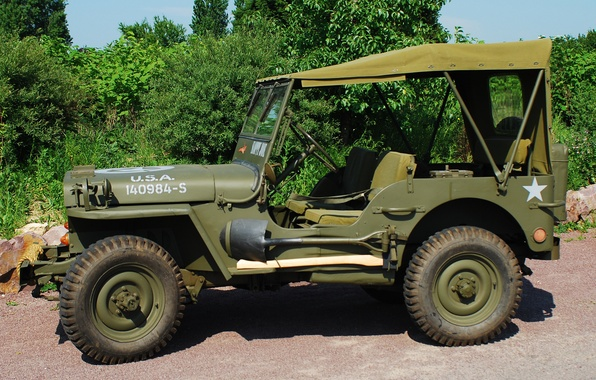 """Picture war, car, army, 1944, Jeep, high, patency, world, Second, times, """"Willis-MV"""", Willys MB"""