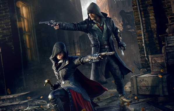 Picture lane, Ubisoft, killer, Brother, Jacob, assassins, Evie, Sister, Assassin's Creed: Syndicate, Jacob, Ivi, Frye