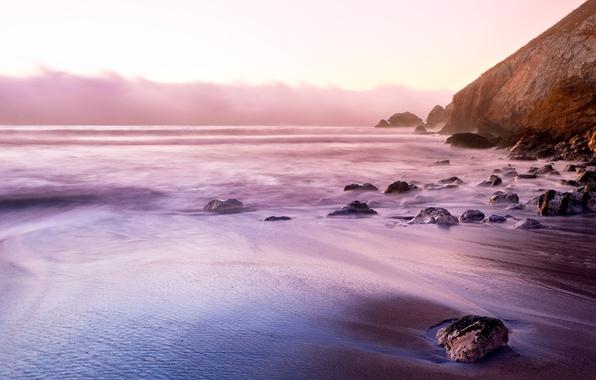 Picture sea, the sky, water, nature, pebbles, rock, stones, the ocean, rocks, element, Wallpaper, shore, coast, …