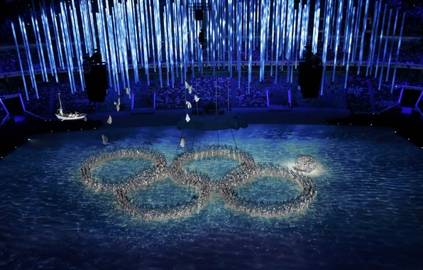 Picture game, people, ring, Russia, Russia, Olympics, games, Olympic, stadium, fail, stadium, people, close, the ceremony, …