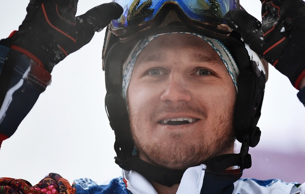 Picture smile, Russia, snowboarder, Sochi 2014, silver medalist, snowboardcross, the Olympic games, Nikolay Olyunin