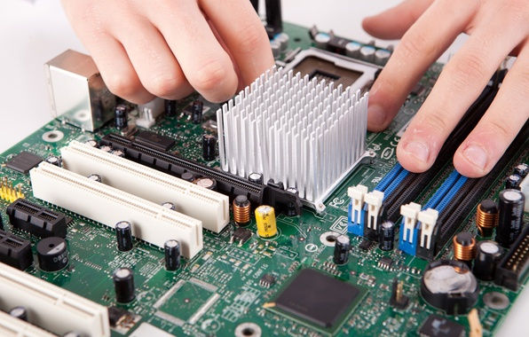 Picture fingers, installation, motherboard