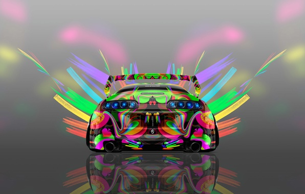 Picture Auto, Design, Neon, Machine, Bright, Style, Grey, Wallpaper, Background, Toyota, Art, Art, Abstract, Photoshop, Photoshop, …