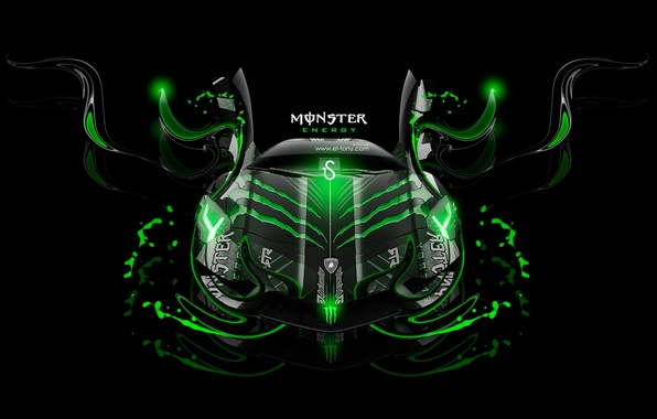 Amazing Photo Wallpaper Black, Lamborghini, Neon, Green, Background, Fantasy,  Photoshop,