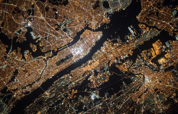 Wallpaper Pattern America Manhattan NYC Height United States - Us map night