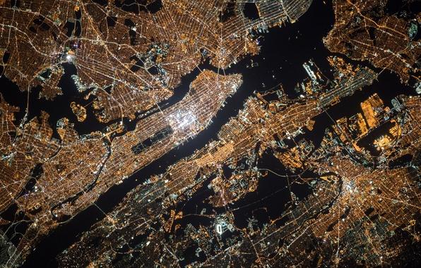 Wallpaper Pattern America Manhattan NYC Height United States - Us map night