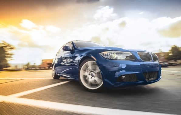 Picture BMW, BMW, blue, blue, Sport, E90, The 3 series, 335i M