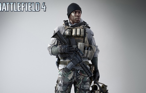 Picture weapons, hat, soldiers, fighter, rifle, equipment, the vest, clip, Electronic Arts, Battlefield 4, EA Digital ...