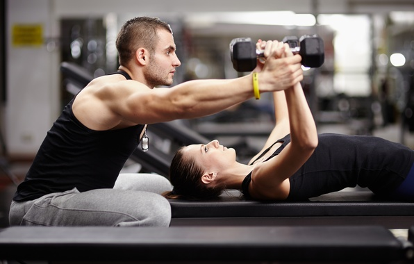 Picture gym, physical activity, personal trainer