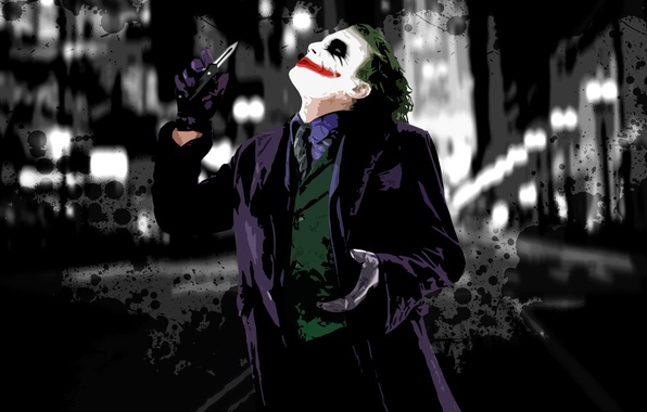 Photo wallpaper makeup, Joker, paint