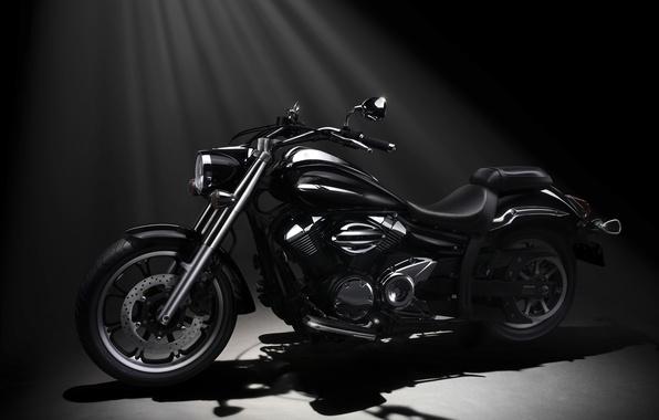 Picture black, Motorcycle, Yamaha