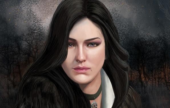 Picture eyes, look, art, the enchantress, Witcher 3: Wild Hunt, Yennefer of Vengerberg, Yennefer of Vengerberg, …