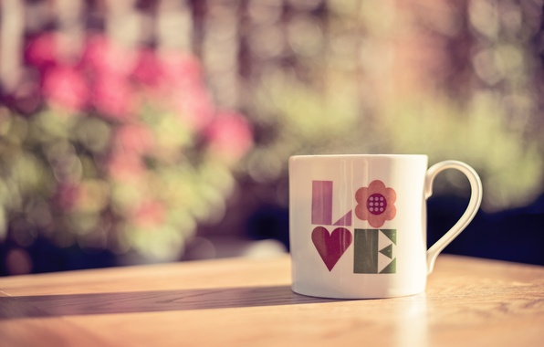 Picture letters, Cup, love