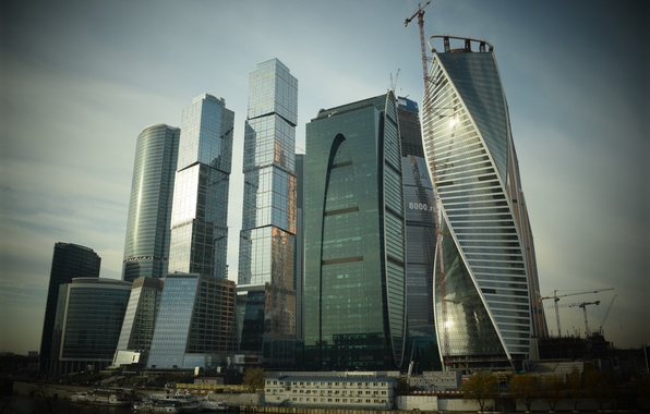 Picture the sky, the city, river, home, Russia, Russia, skyscrapers, capital, Moscow-City, Moscow-City, MOSCOW, MSK