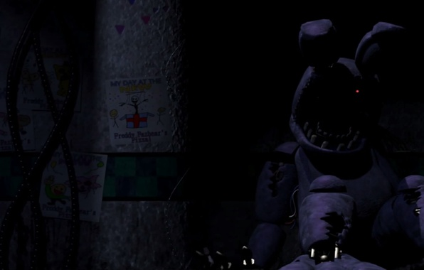 Picture Drawings, Parts & Service, Old Bonnie, Animatronic, Five Nights At Freddy's