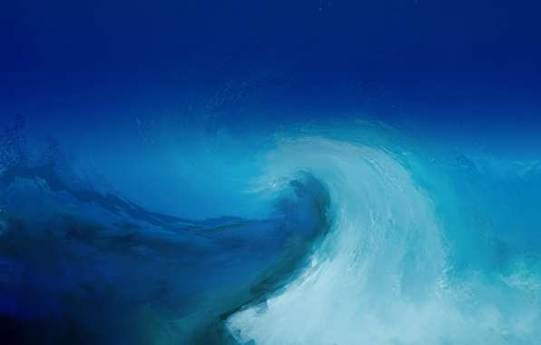 Picture blue, background, blue, wave, texture, painting