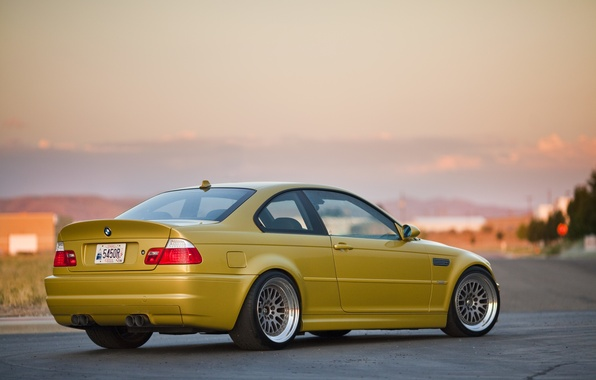 Picture tuning, BMW, BMW, gold, tuning, E46, gold