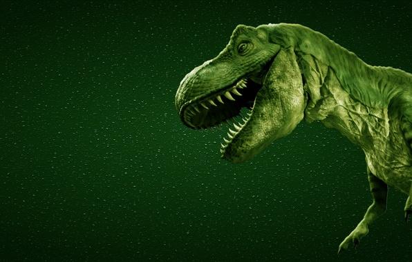 Picture green, dinosaur, predator, teeth, mouth