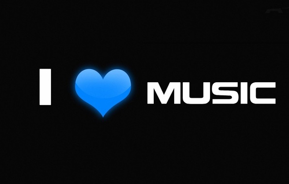 Picture love, music, heart, minimalism, music, love, the phrase