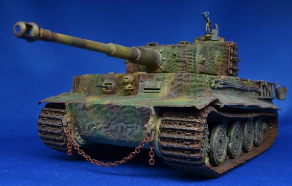 Picture toy, tank, Tiger, German, 1944, model, heavy