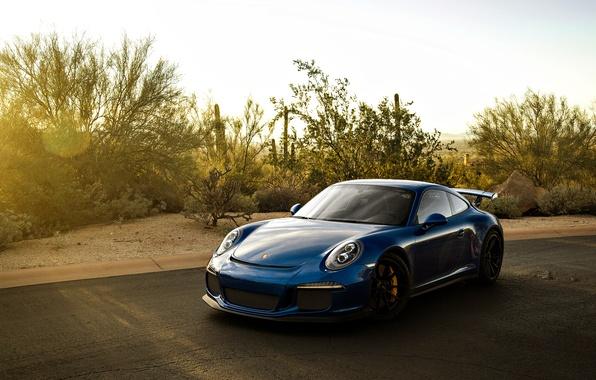 Picture 911, Porsche, supercar, Porsche, blue, GT3