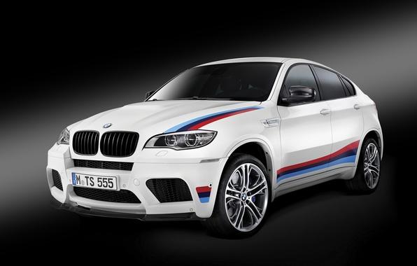 Picture white, BMW, BMW, black background, X6 M, E71