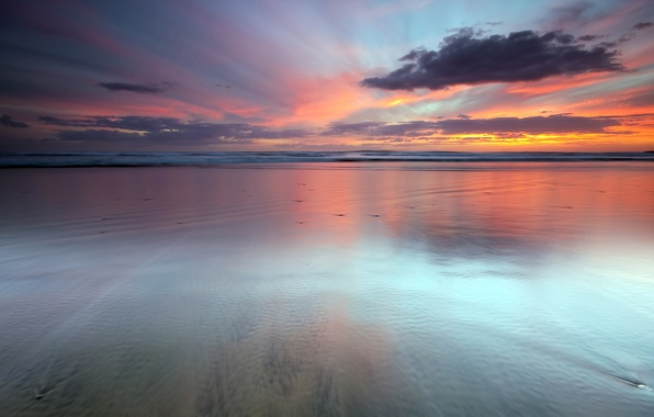 Picture clouds, sunset, the ocean, new Zealand, sky, sunset, Last Light, auckland new zealand, water, seascape