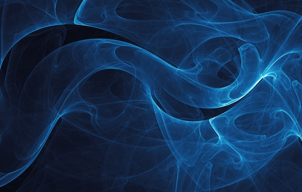 Picture Black background, VladStudio, Blue lines