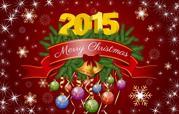 Photo wallpaper graphics, decoration, Christmas, new year, 2015