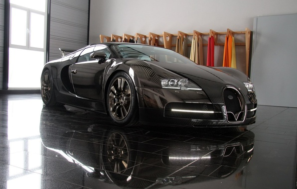 Picture black, tuning, veyron, bugatti, luxury cars