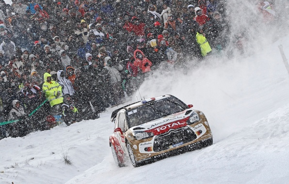 Picture Winter, Auto, Snow, Sport, Machine, People, Race, Citroen, DS3, WRC, Rally, Rally, Snowfall