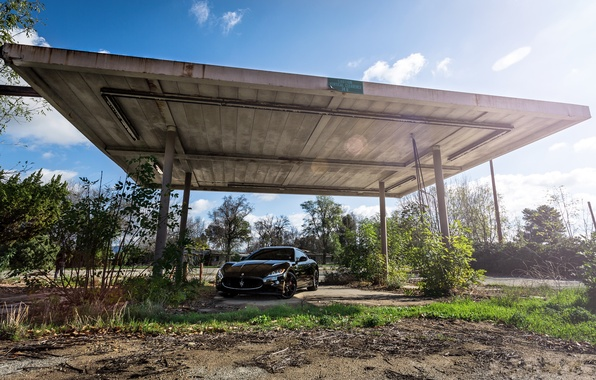 Picture black, Maserati, canopy, black, front view, Maserati, MC Road, Granturismo, GranTurismo, Stradale