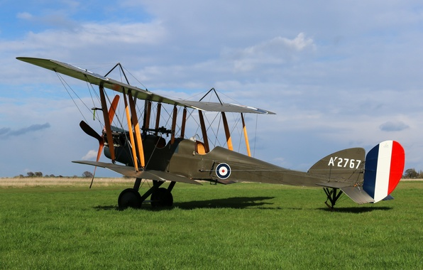 Picture English, The first world war, Royal Aircraft Factory, spy plane, used, in the period, R.E.8