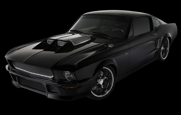 Picture auto, black, Mustang