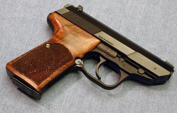Picture gun, trunk, Germany, denim fabric