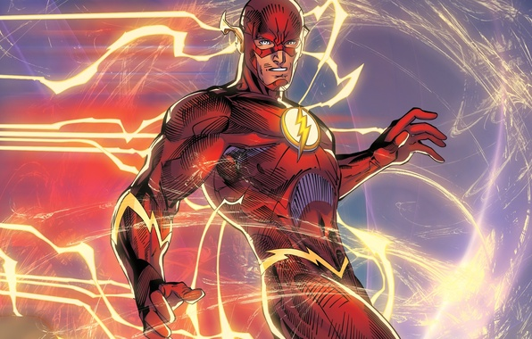 Picture speed, hero, art, flash, DC Comics, The Flash, barry allen