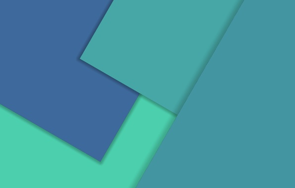 Picture Android, Design, Square, 5.0, Lines, Lollipop, Turquoise, Material, Triangles, Angles, Abstractions