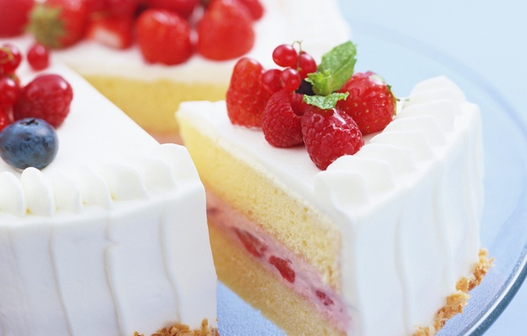 Picture berries, cake, dessert, sweet, delicious, yammy