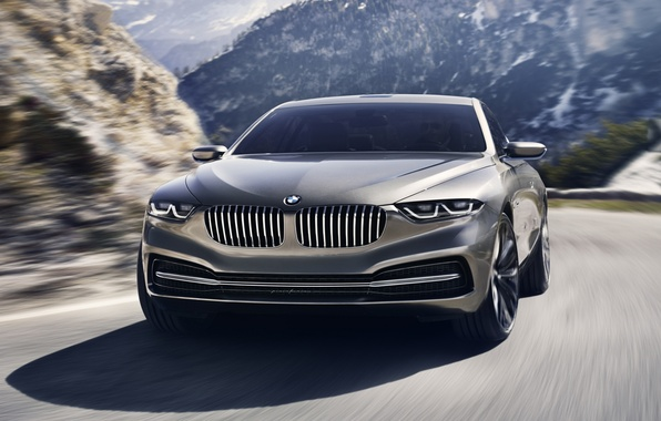 Picture road, background, coupe, BMW, BMW, the concept, Coupe, the front, Gran Lasso, Gran Lusso