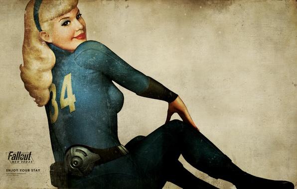 Picture girl, room, costume, belt, Fallout, New Vegas, resident, asylum