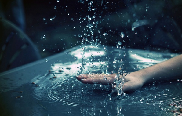 Picture water, squirt, hand