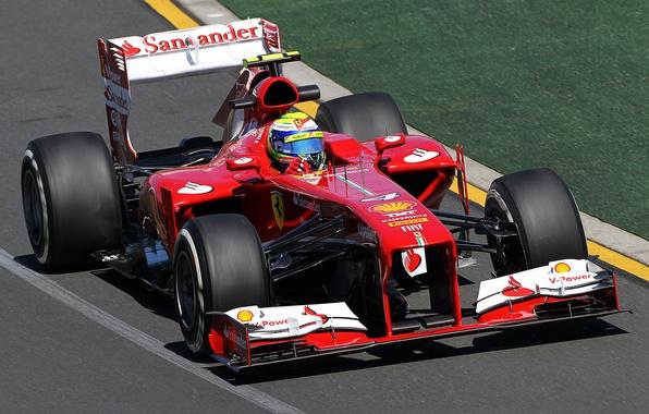 Picture sport, track, Ferrari, racing car, F138