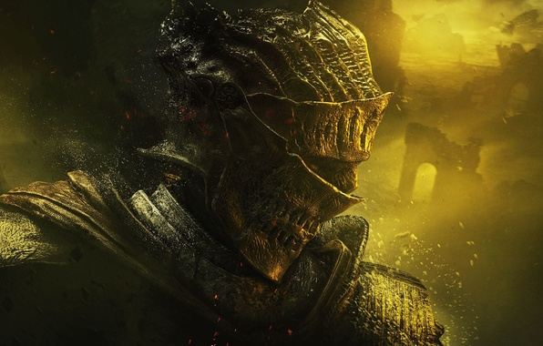 Picture armor, warrior, helmet, knight, armor, Namco Bandai Games, From Software, Dark Souls III