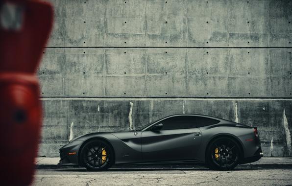 Picture Ferrari, Miami, Side, Gothic, Supercar, Berlinetta, F12, Wheels, Brake