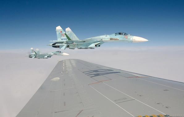 Picture the sky, Wallpaper, wing, fighter, pilot, flight, the plane, 2011, wallpapers, Russia, BBC, su-27, Su-27, …