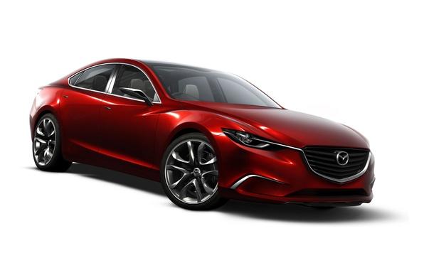 Picture Red, Auto, concept, Mazda, on a white background