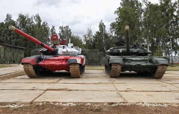 Picture Tanks, T-90A, tank biathlon, T-72Б3М