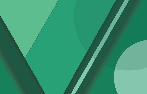 Picture Android, Circles, Green, Design, 5.0, Lines, Lollipop, Material, Abstractions