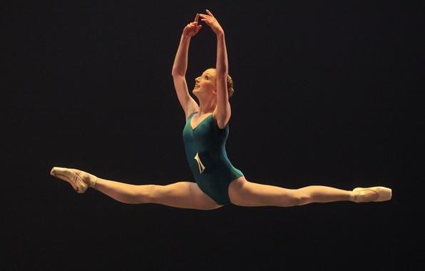 Picture darkness, ballerina, art, twine, ballet