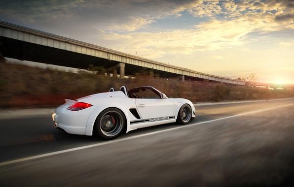 Picture Clouds, Auto, Road, Tuning, Speed, Machine, Porsche Boxter